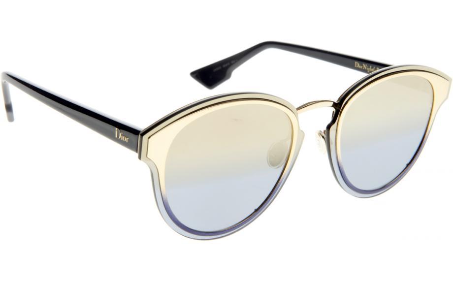 Womens Diornightfall X5 Sunglasses, Gold Blue, 63 Dior